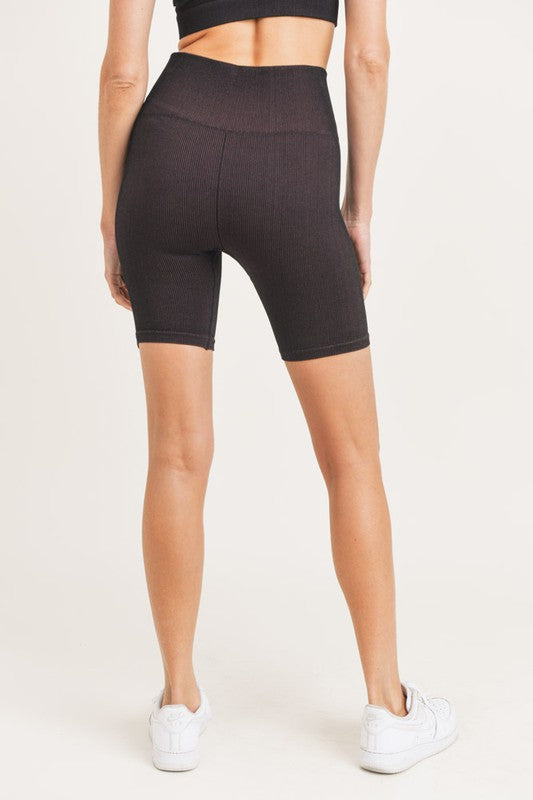Ribbed Biker Short