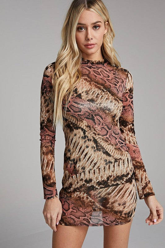 Reptile Mini Dress