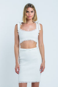 White Skirt Set