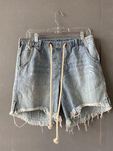 Light Wash Drawstring Short