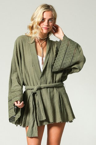 Sweet Sage Wrap Top