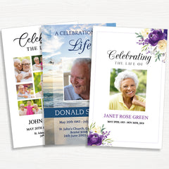 4 Page Funeral Programs