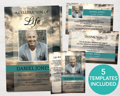 4 Page Mountain Top Program Template + 4 matching Templates