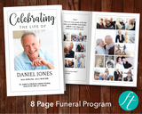 8 Page Classic Funeral Program Template