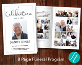 8 Page Essential Funeral Program Template