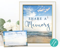 Beach Share a Memory Sign and Cards