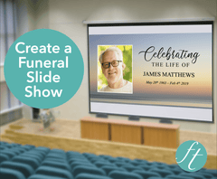 Beach Sunset Funeral Slide Show Template