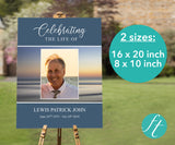Beach Sunset Funeral Welcome Sign