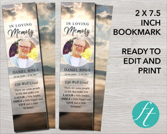 Mountain Top Funeral Bookmark
