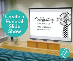 Catholic Cross Funeral Slide Show Template