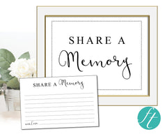 Classic Share a Memory Sign and Cards