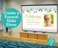 Green Leaf Funeral Slide Show Template