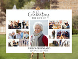 Landscape Photo Collage Funeral Welcome Sign