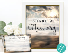Mountain Top Share a Memory Sign and Cards