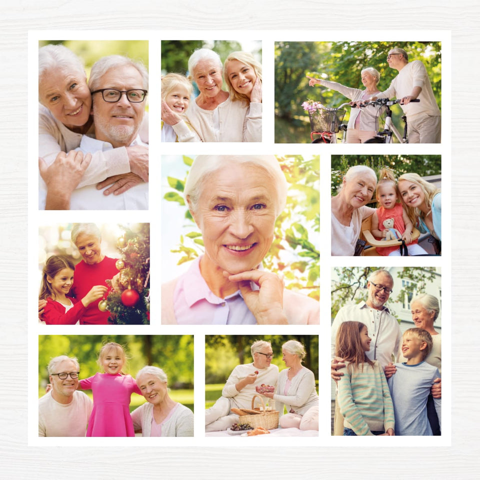 Photo Collage Template for Funeral Program