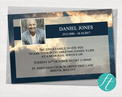 Sky Funeral Invitation Card