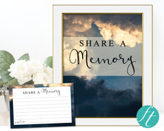 Sky Share a Memory Sign and Cards