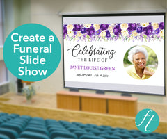 Purple Bloom Funeral Slide Show Template