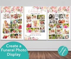 Spring Flowers Funeral Photo Display