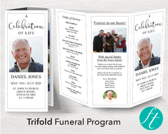 Trifold Essential Funeral Program Template