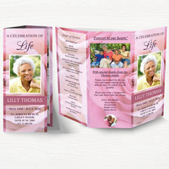 Trifold Funeral Program Templates