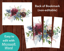 Back of Funeral Bookmark with Autumnal Flowers