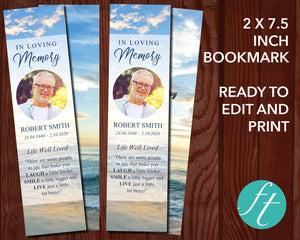Beach Funeral Bookmark