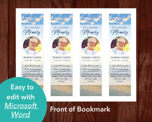Front of Beach Funeral Bookmark