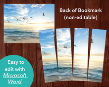 Back of Beach Funeral Bookmark