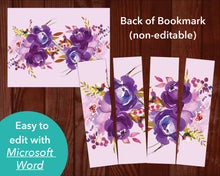 Peonies Corners Funeral Bookmark