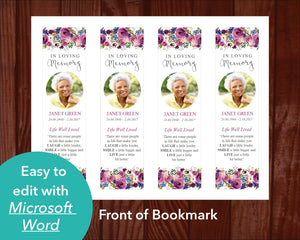 Front of Funeral Bookmark