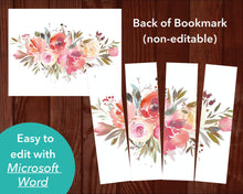 Back of Funeral Bookmark with Spring Flowers