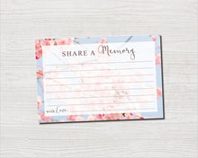 Cherry Blossom Share a Memory Sign and Cards