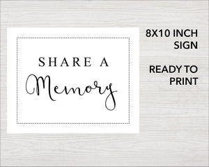 Share a memory sign with classic design