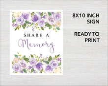 Share a memory sign