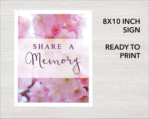 Share a memory sign for a funeral service