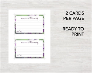 Printable share a memory cards