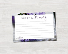 Purple Bouquet Share a Memory Sign and Cards