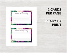 Printable purple peonies share a memory cards
