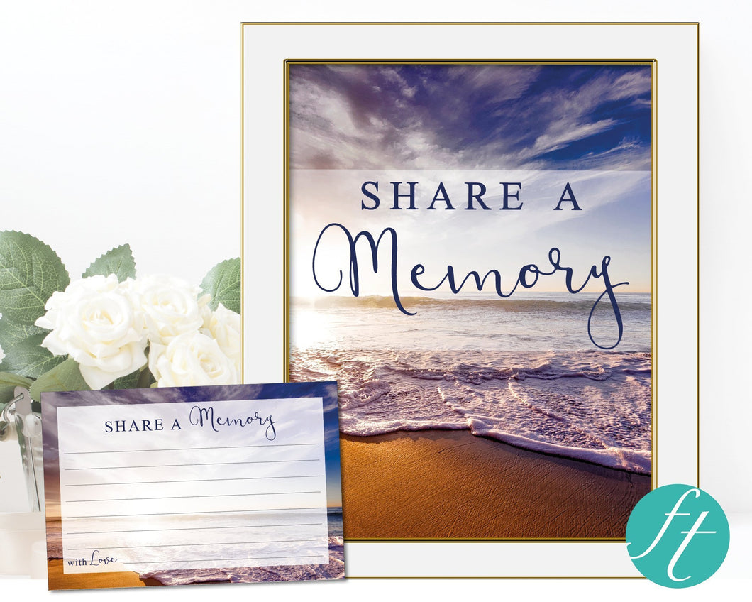Share a memory sign and cards for men