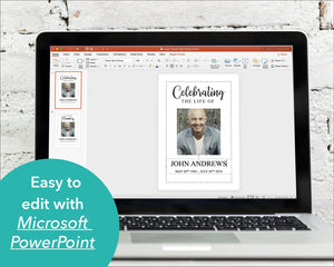 Funeral welcome signs editable with Microsoft Powerpoint