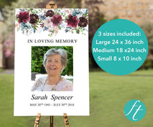 Funeral poster in three different sizes