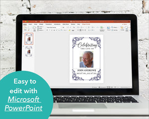 Funeral welcome sign editable with Microsoft Powerpoint