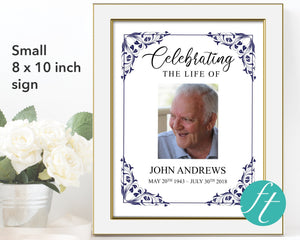Small 8 x 10 inch editable memorial sign