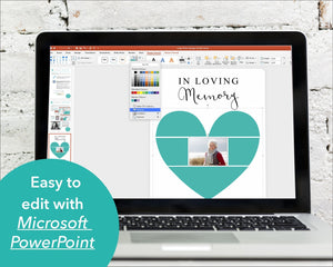 Easy to edit funeral poster with Microsoft PowerPoint
