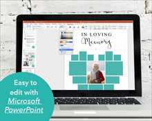 Edit photo collage funeral poster with Powerpoint