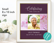 Small celebration of life poster