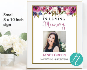 Frame your small memorial sign