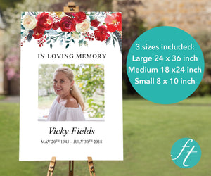 funeral welcome sign in 3 sizes large, medium and small