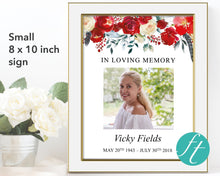 small 8 x 10 inch funeral welcome sign